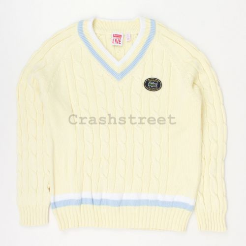 Lacoste Tennis Sweater in Yellow