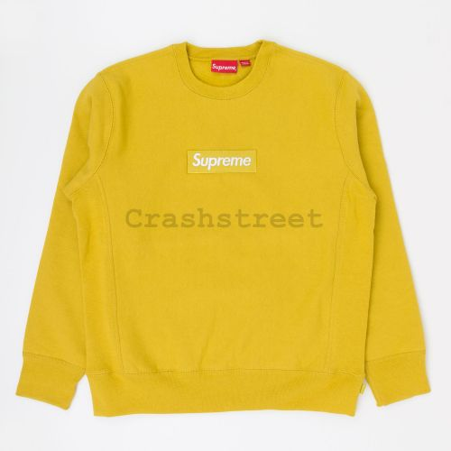 Box Logo Crewneck in Mustard