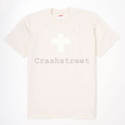 Cross Box Logo Tee in Natural