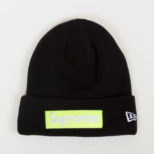 New Era Box Logo Beanie - Black
