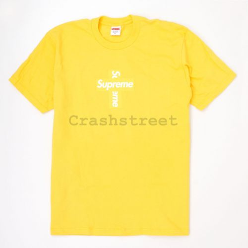 Cross Box Logo Tee in Yellow