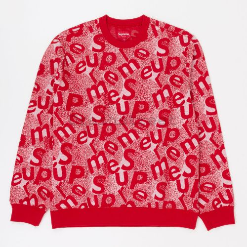 Scatter Text Crewneck - Red