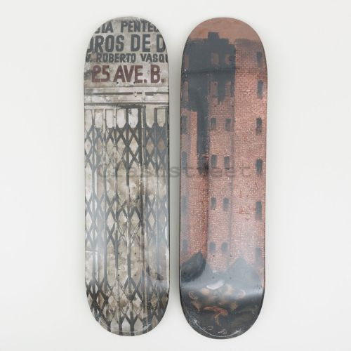 Martin Wong Big Heat & Iglesia Pentecostal Skateboard (Set Of 2)