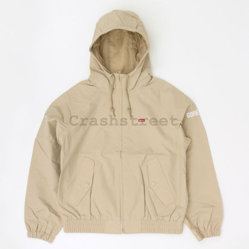GORE-TEX Hooded Harrington Jacket in Beige