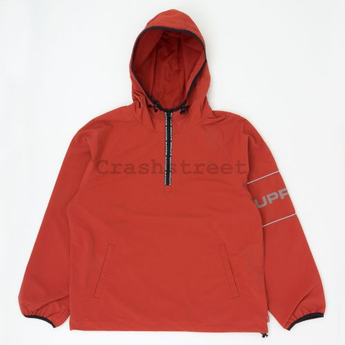 Ripstop Hooded Pullover in Rust