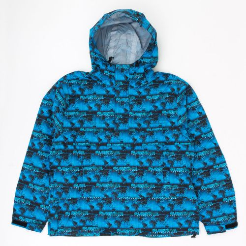 World Famous Taped Seam Hooded Pullover in Blue