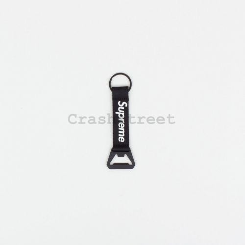Bottle Opener Webbing Keychain in Black