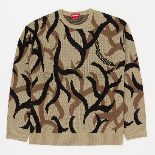 Tribal Camo Sweater in Tan