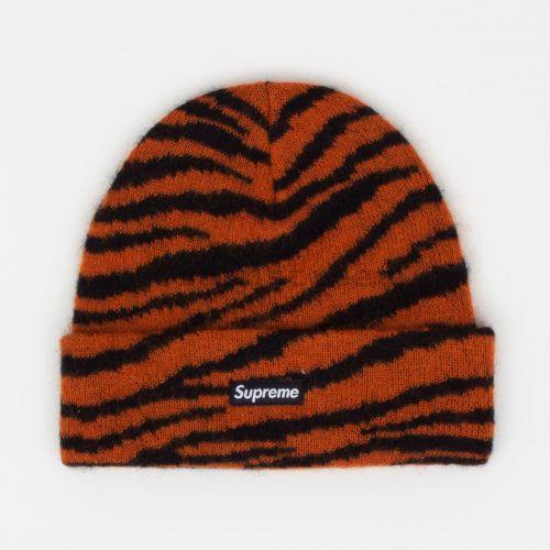 Mohair Beanie - Tiger Stripe