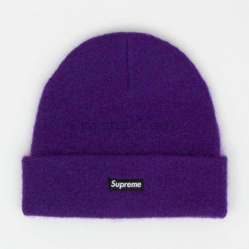 Mohair Beanie in Purple