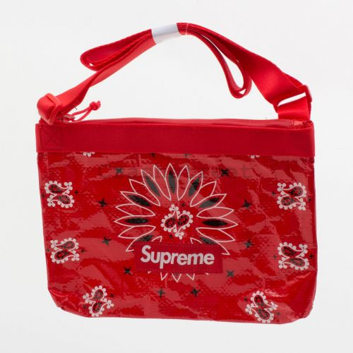 Bandana Tarp Side Bag in Red