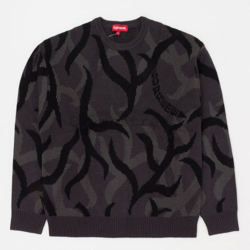 Tribal Camo Sweater in Black