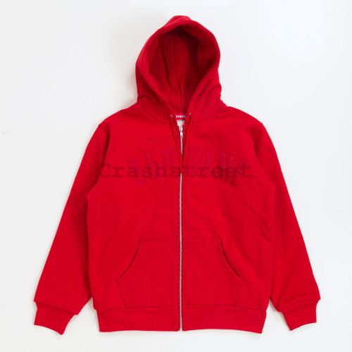 Arc Logo Thermal Zip Up Sweatshirt - Red
