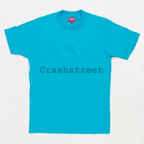 Tonal Embroidered Tee - Teal