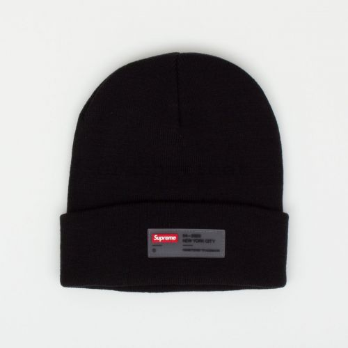 Clear Label Beanie - Black