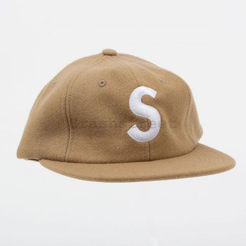 Wool S Logo 6-Panel in Tan