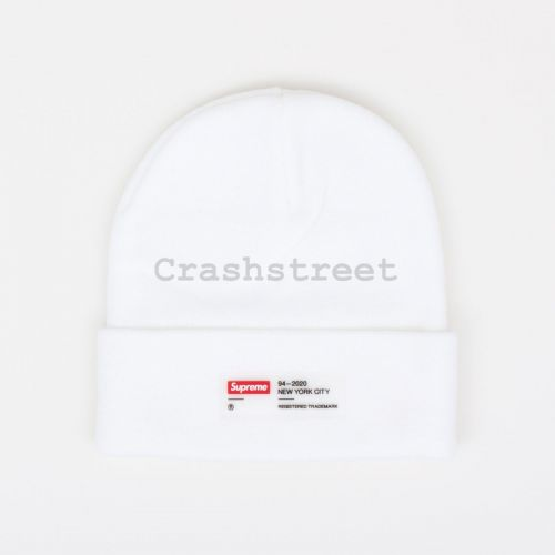 Clear Label Beanie - White