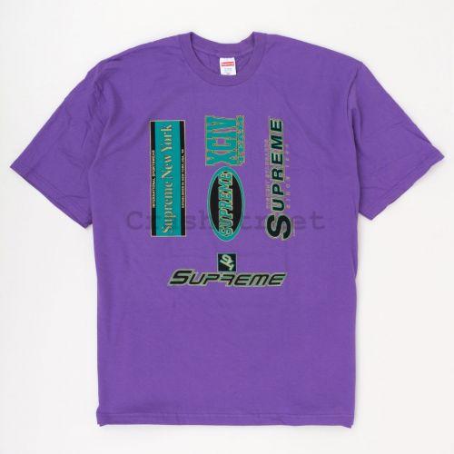 Multi Logos Tee in Purple