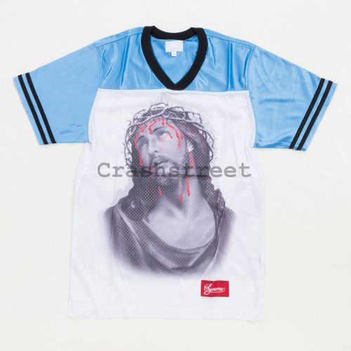 Jesus Football Top Jersey - Blue