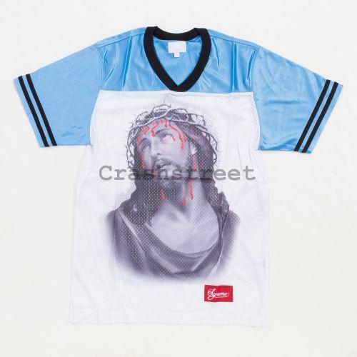 Jesus Football Top Jersey in Blue