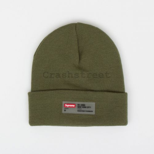 Clear Label Beanie - Olive