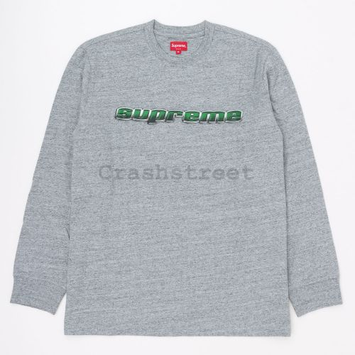 Chrome Logo L/S Top in Grey