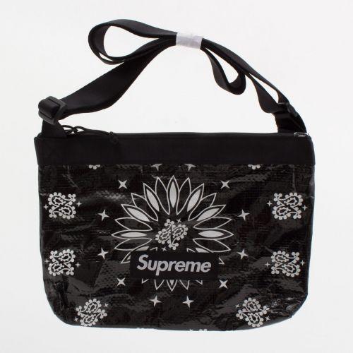 Bandana Tarp Side Bag in Black