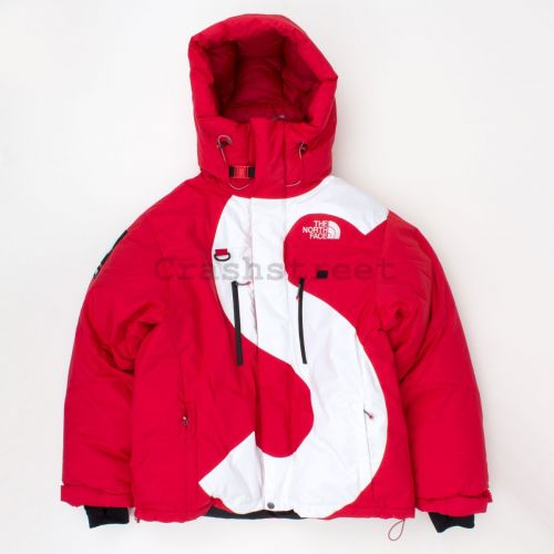The North Face S Logo Summit Series Himalayan Parka in Red