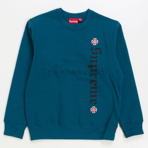 Independent Fuck The Rest Crewneck in Teal