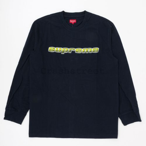Chrome Logo L/S Top in Navy