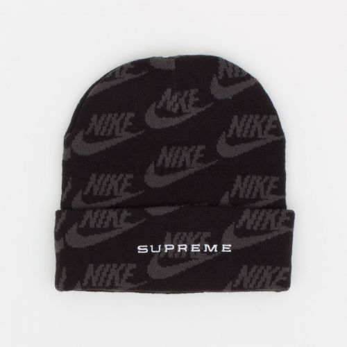 Nike Jacquard Logos Beanie in Black