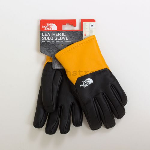 The North Face Leather Gloves - Gold