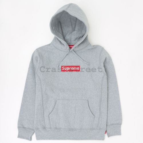 Swarovski Box Logo Hooded Sweatshirt - Grey