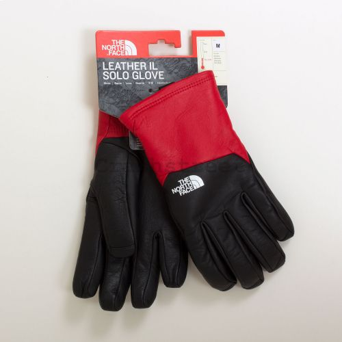 The North Face Leather Gloves - Red