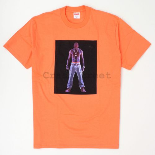 Tupac Hologram Tee in Orange