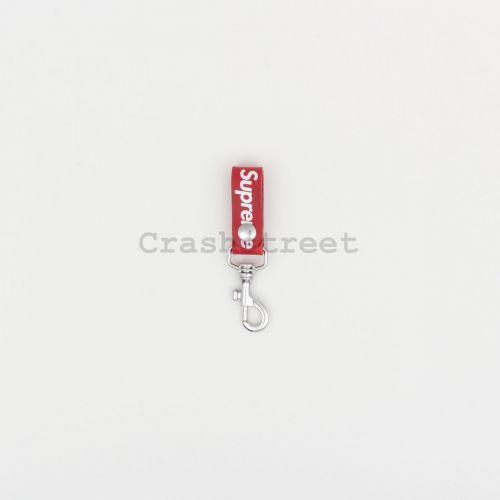 Leather Key Loop in Red