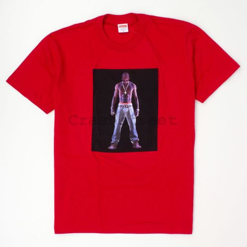 Tupac Hologram Tee in Red