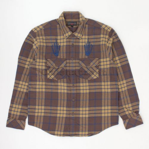 Hysteric Glamour Plaid Flannel Shirt in Brown