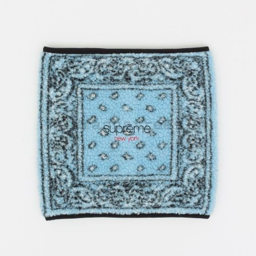 Bandana Fleece Neck Gaiter in Blue