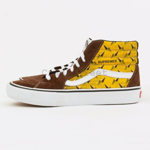 Vans Diamond Plate Sk8-Hi Pro in Brown