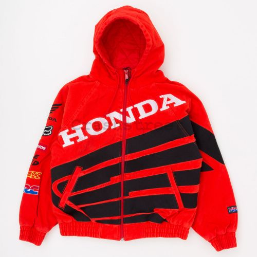 Honda Fox Racing Puffy Zip Up Work Jacket - Red