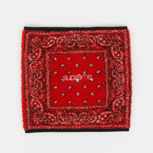 Bandana Fleece Neck Gaiter - Red