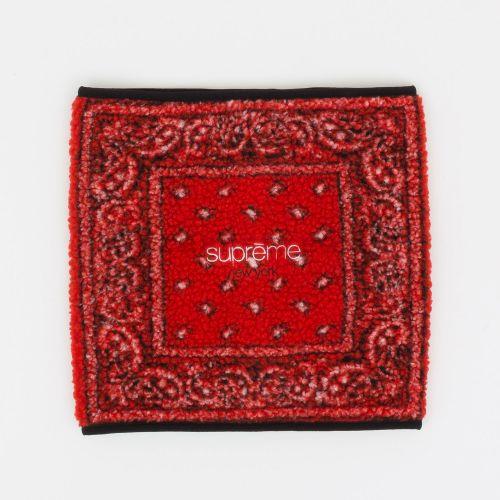 Bandana Fleece Neck Gaiter in Red