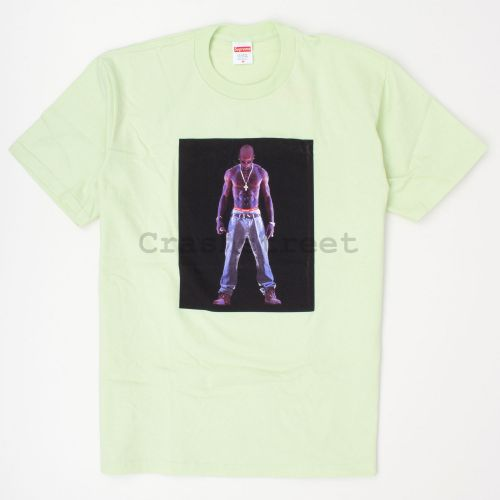 Tupac Hologram Tee in Pale Mint