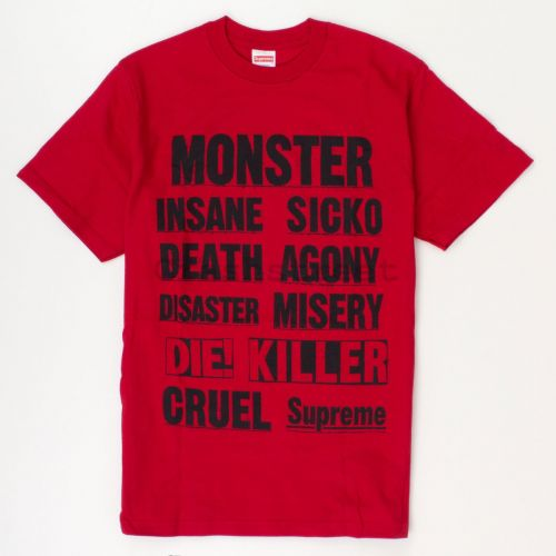 Monster Tee in Red