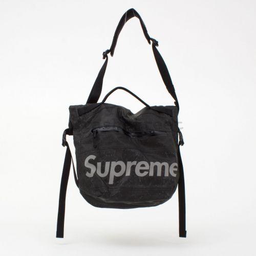 Waterproof Reflective Speckled Shoulder Bag - Black