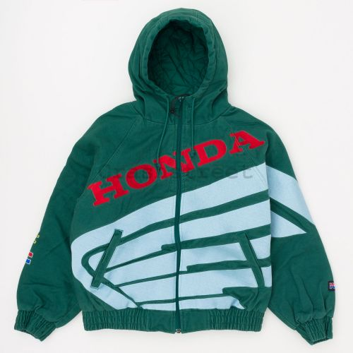 Honda Fox Racing Puffy Zip Up Work Jacket in Green