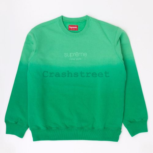 Dipped Crewneck in Green