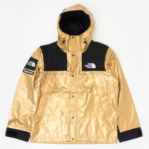 The North Face Metallic Mountain Parka in Gold