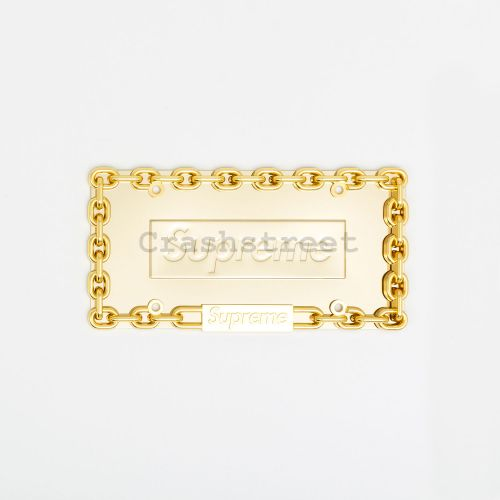 Chain License Plate Frame in Gold